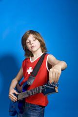 Junge stimmen Gitarre, Portrait