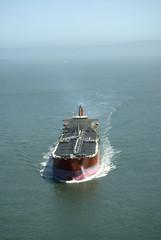 Draufsicht von Tankschiff Tanker