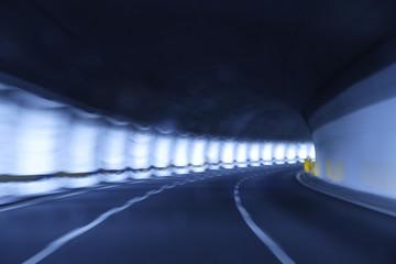 Tunnel Bewegungsunschärfe