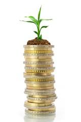 Wirtschaftswachstum Konzept Münzturm