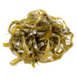 Pickled Kelp (Laminaria) Seaweed Isolated on White Background