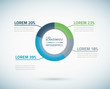 Infographic pie chart vector eps10 illustration