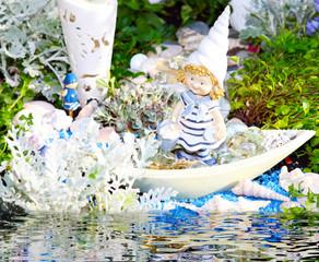 Sommerliche Gartendekoration, Grabschmuck