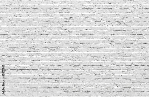 Foto op Canvas Wand White brick wall