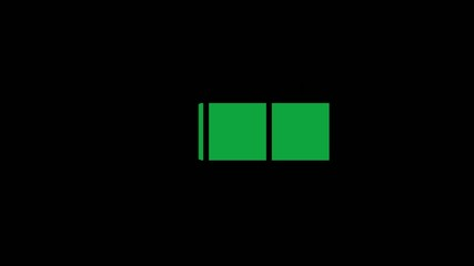 green rectangles animation with alpha channel
