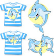 kid shirt with cute dolphin