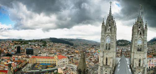 Basilica in Quito, Ecuador.