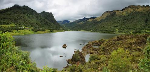 Panoramic view of Papallacta lake