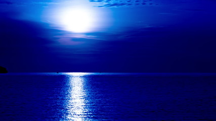 Romantic moonlight on the sea