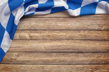 Hintergrund / Flagge / Holz zum Oktoberfest