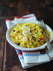 Traditional indian dish Kedgeree