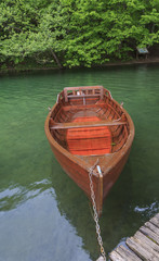 Boat at Plitvice lakes