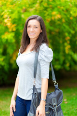 Young female student outdoor