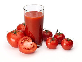 Tomato juice and tomatoes