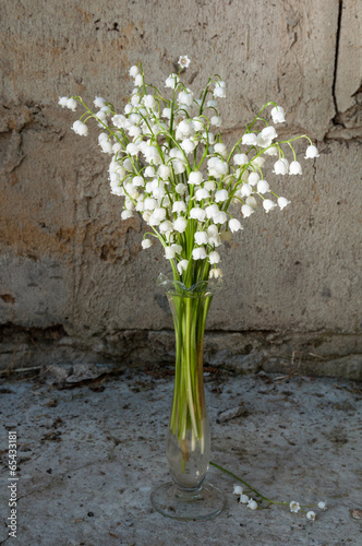 still life bouquet with lily of the valley