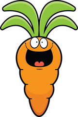 Happy Cartoon Carrot