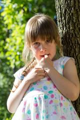Happy little girl outdoor