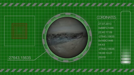 Sci Fi universe HUD animation green screen