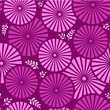 Purple Seamless floral background with flowers and leaves