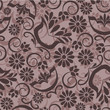 Vintage floral background  seamless pattern in beige