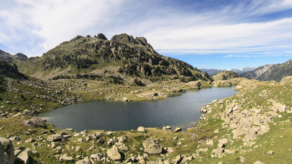 Lake of Colomers in the Catalan Pyrenees