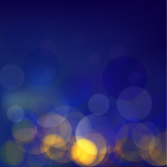 Classic blue bokeh background, Vector illustrator eps10
