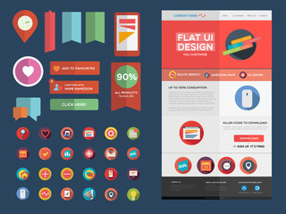 Designers toolkit -Flat UI design