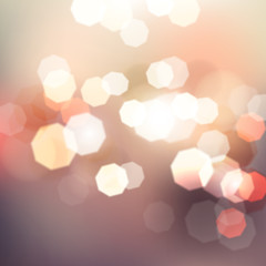 Celebrate bokeh light Vintage background, Vector illustration