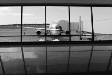 Black and White Airport