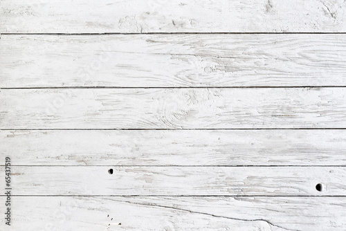 Foto op Canvas Hout White planks