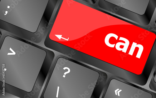 can word written on computer keyboard key button