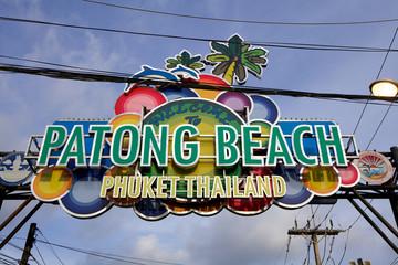 Insegna di  benvenuto a Patong.