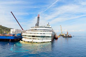 Costa Concordia wreck, Giglio Island, Tuscany, Italy