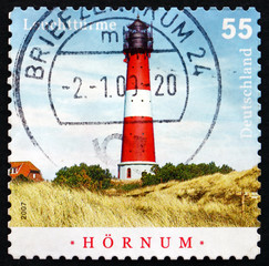 Postage stamp Germany 2008 Hornum, Sylt, Lighthouse