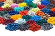 gefärbtes Plastik Granulat - 65438363