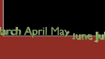 クロマキーを施したアニメーション素材 /5月のイベントを紹介するアニメーション_2