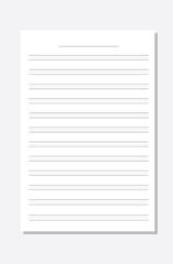 Blank music score paper
