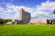 Leinwanddruck Bild - hospital building.