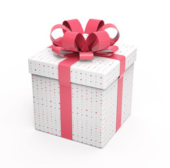 Set of pink gift boxes on pink background.