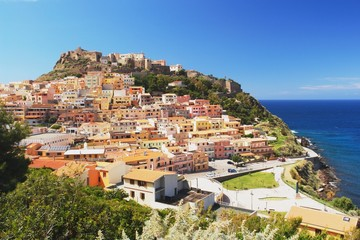 View of the Castelsardo, Sardinia
