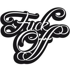 Fuck Off Edel Text Logo