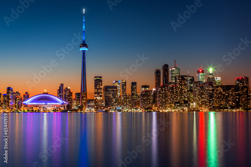 Foto op Canvas Canada Toronto skyline at dusk