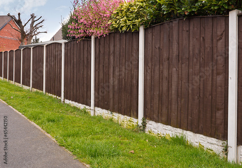 Fotobehang Tuin Close board fencing panels