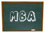 MBA Masters Business Administration College Degree Chalk Board poster
