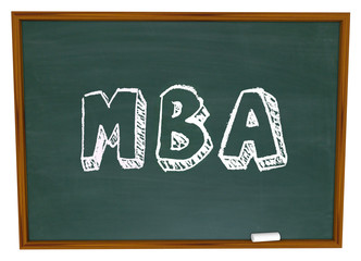 MBA Masters Business Administration College Degree Chalk Board