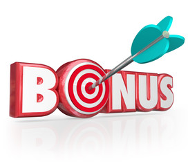 Bonus Word 3d Red Letters Premium Gift Plus Added Benefit