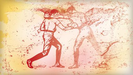background Illustration Boxing