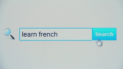Learn french - browser search query, Internet web page