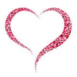 Fototapety Music note in heart shape