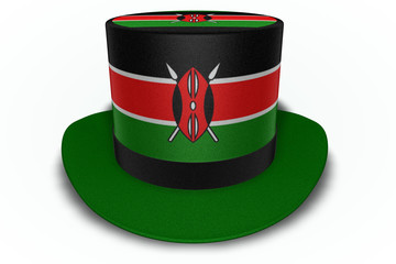 Kenya Flag Top Hat